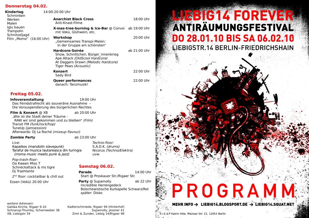 Programm fürs Festival - Seite 1